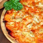 Pizza cu anghinare si mozzarella
