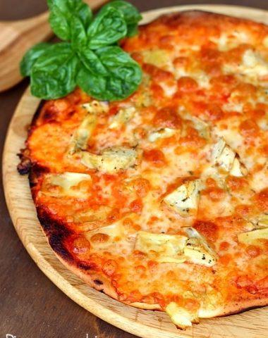 Pizza cu anghinare