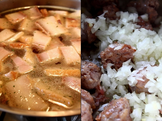 Preparare iahnie de fasole cu slaninuta afumata