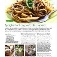 Spaghettoni cu pesto de ciuperci
