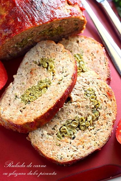 Rulada de carne cu gazura dulce picanta
