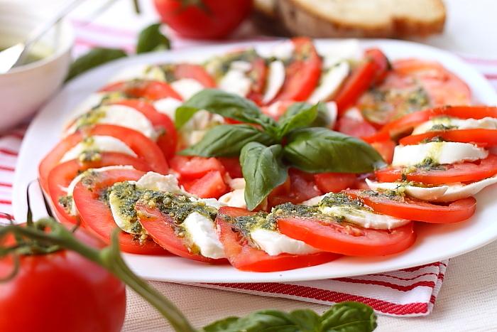 Salata caprese detaliu