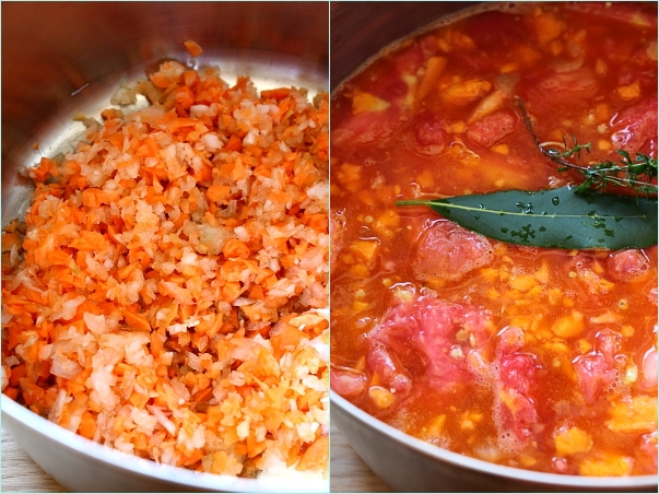 Supa crema de rosii - mod de preparare