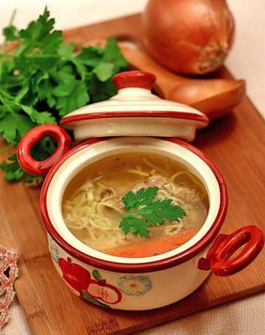 Supa de vaca cu taitei