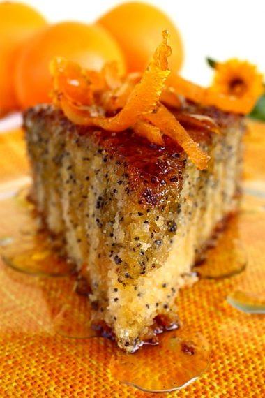 Tarta de portocale cu mac