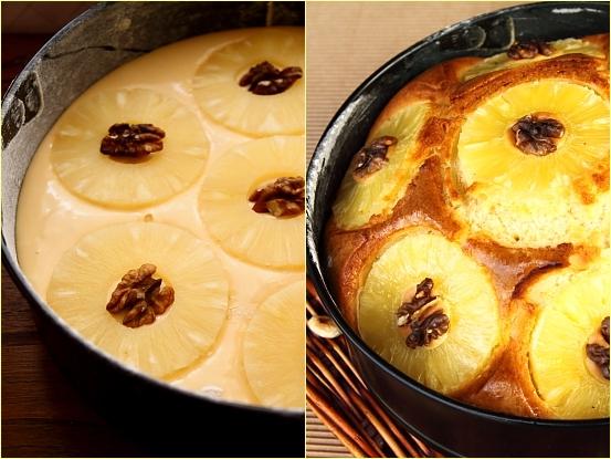 Tarta rustica cu ananas - mod de preparare