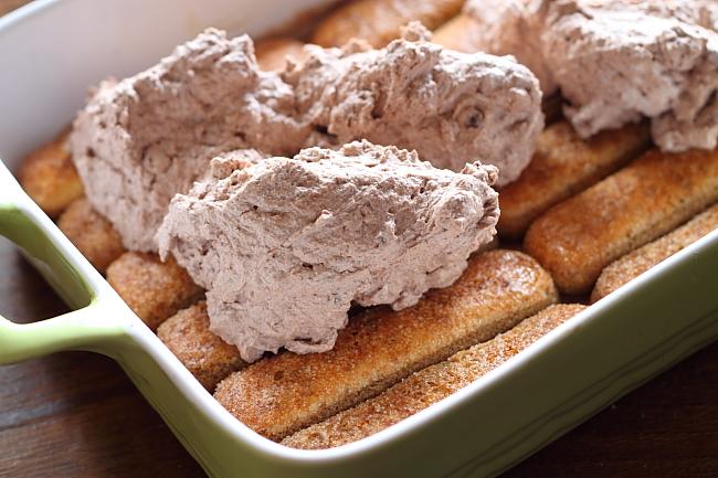 Tiramisù cu crema de ciocolata (fara oua)