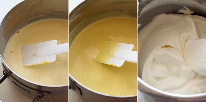 Tort cu fructe de padure - preparare mousse frisca