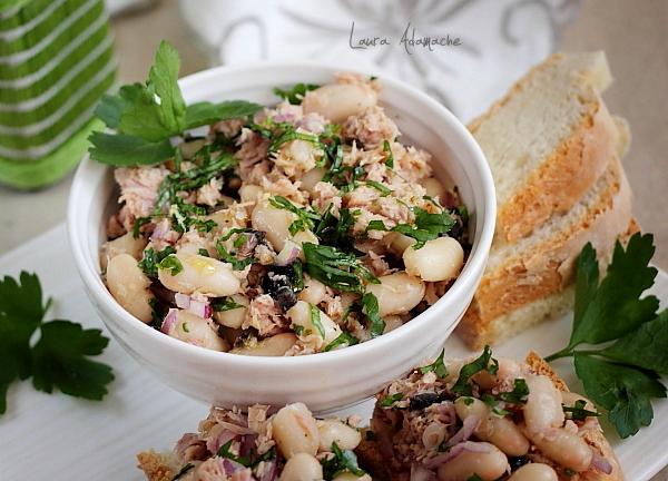 Prezentare salata de fasole boabe
