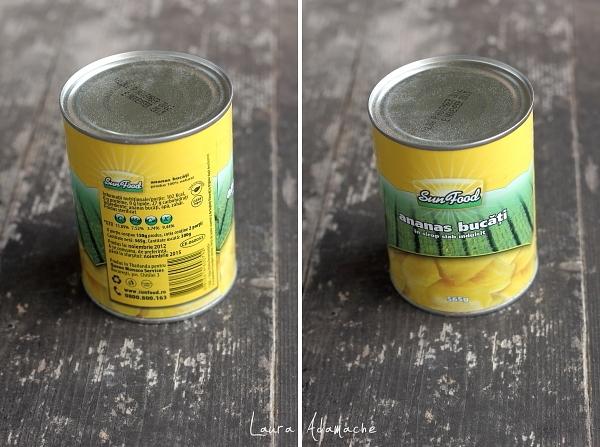 Inghetata de ananas si rom - conserva de ananas SunFood