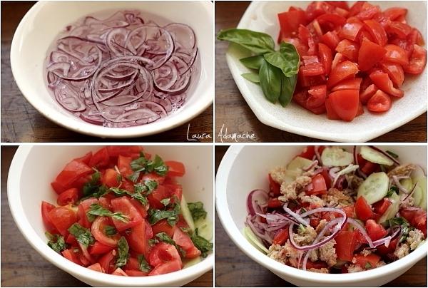 Panzanella - Salata italiana de vara ingrediente