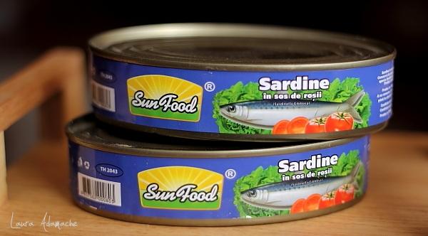 Vinete umplute cu sardine - conserva SunFood