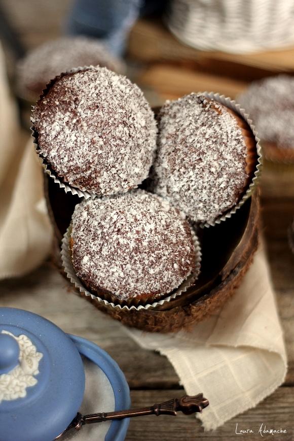 Muffins cu nuca de cocos - detaliu