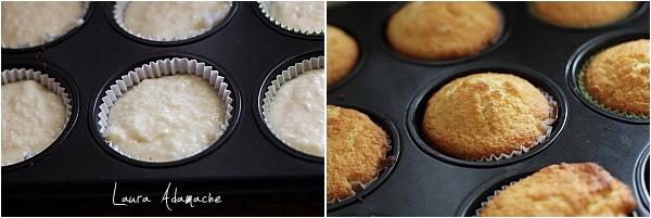 Muffins cu nuca de cocos- preparare