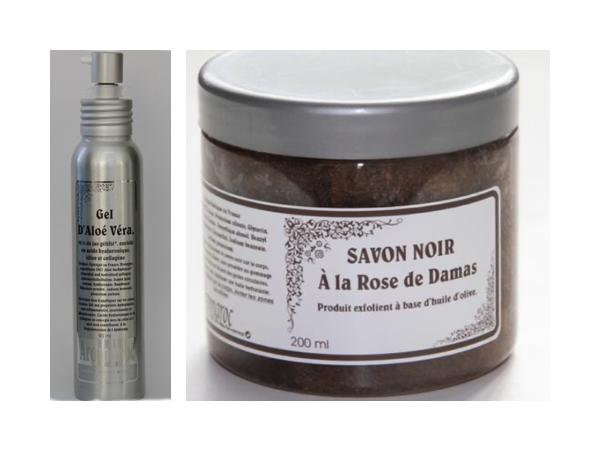 Gel de aloe vera si sapun negru de Damasc