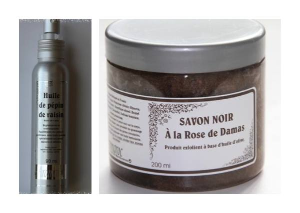 Ulei de samburi de struguri si sapun negru de Damasc