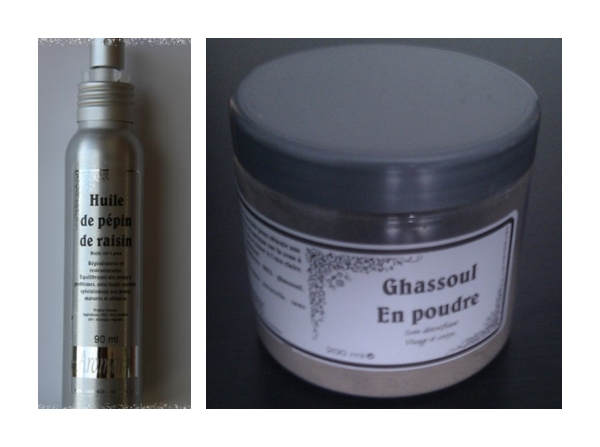 Ulei de samburi de struguri si argila Ghassoul