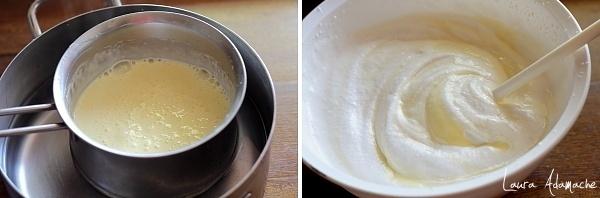 Tort de inghetata - compozitie galbenusuri si frisca