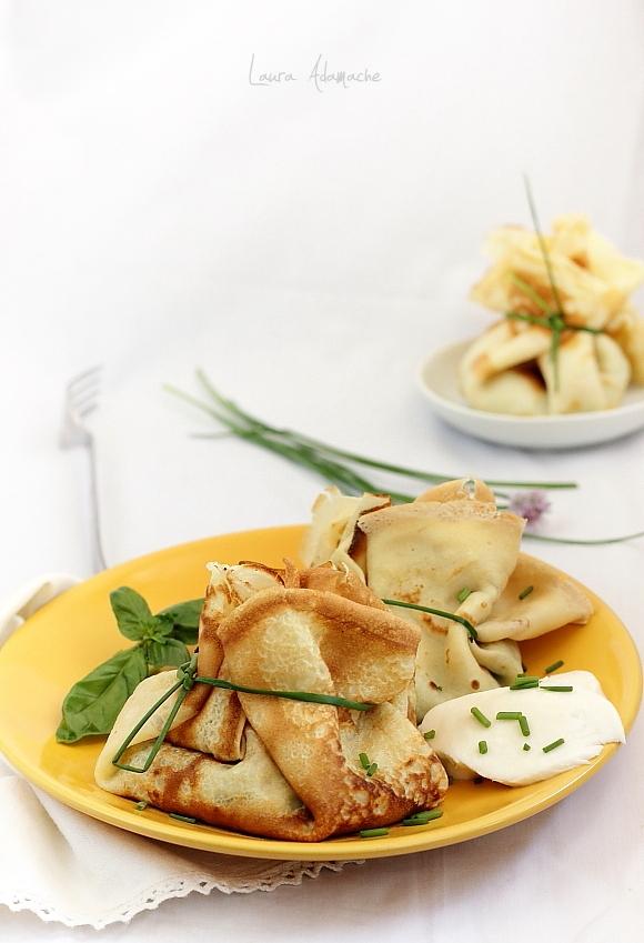 Clatite umplute cu spanac si mozzarella Granarolo - clatite detaliu