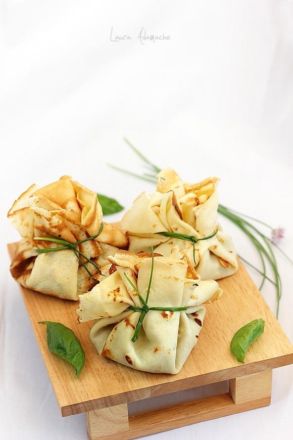 Clatite umplute cu spanac si mozzarella Granarolo - clatite umplute