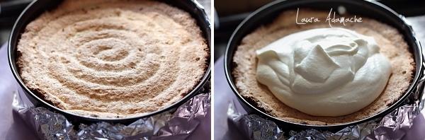 Tort cu mousse de miere - dacquoise