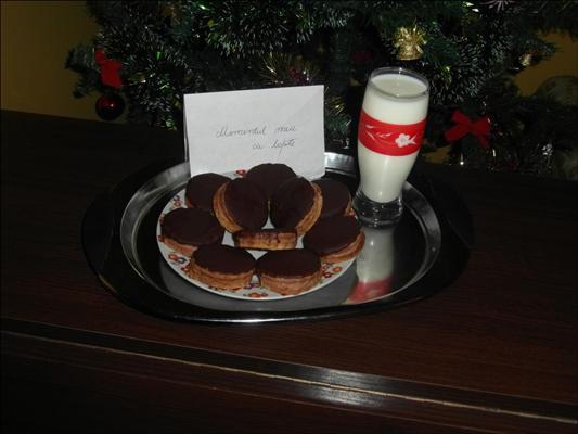 Biscuiti glazurati ciocolata