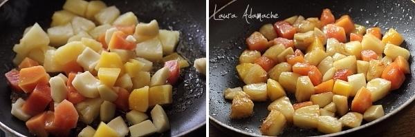 Preparare fructe caramelizate