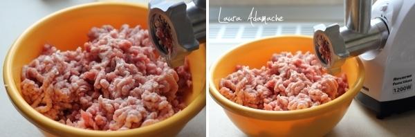 Carne tocata pentru carnati