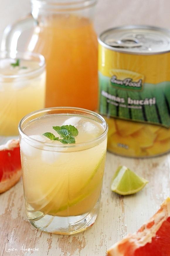 Suc de fructe cu ananas Sun Food