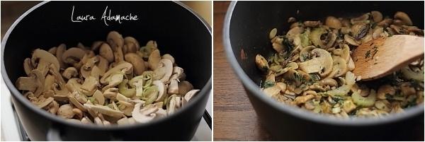 Preparare ciorba champignon