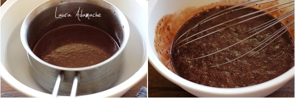 Prajitura cu cirese si crema de ciocolata preparare