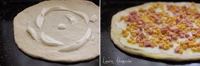 Preparare pizza cu porumb Sun Food