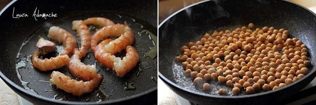 Preparare satala de naut Sun Food si creveti