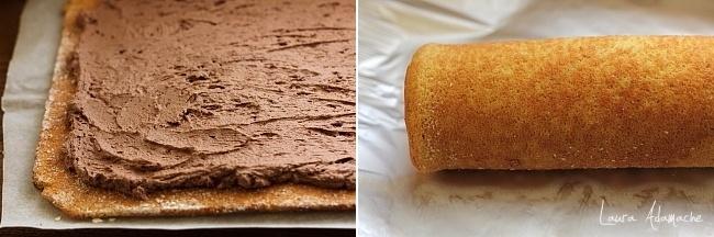 Rulada cu dovleac si mousse ciocolata