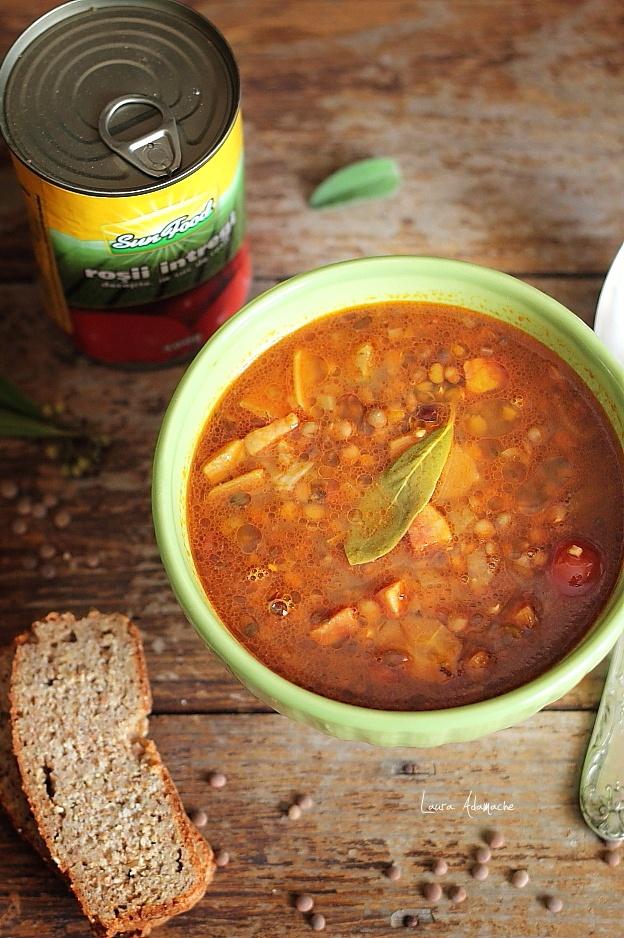 Supa de linte si rosii Sun Food