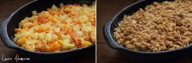 Crumble cu ananas in forma