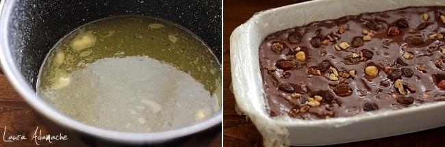 Ciocolata de casa cu alune in forma