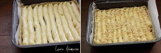 Tarta de post cu crema caramel preparare