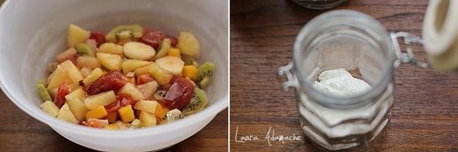 Salata de fructe detaliu preparare