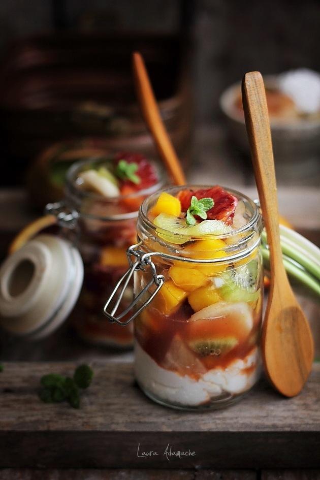 Salata de fructe prezentare