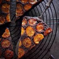 Prajitura rasturnata cu banane si caramel