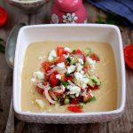 Crema de naut cu salata greceasca