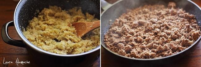 preparare varza si carne calita