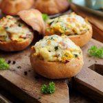 Chifle umplute cu ciuperci