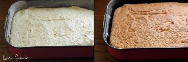 Prajitura cu nuca si crema caramel detaliu blat