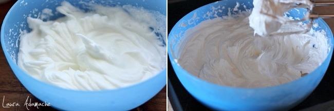 Mini tort cu crema de capsune detaliu prepararea bezea italiana