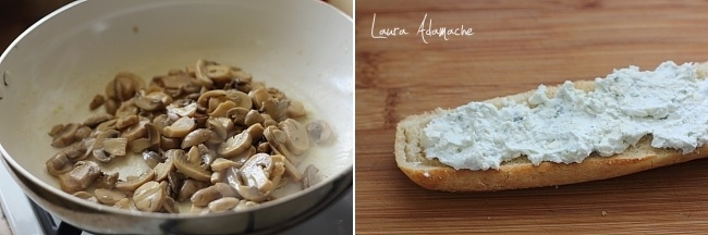 preparare-sandvis-ciuperci-gorgonzola