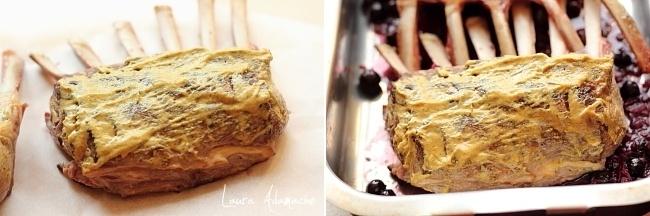 Cotlet de miel cu sos de afine detaliu preparare