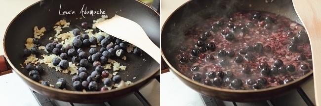 Cotlet de miel cu sos de afine preparare sos de afine