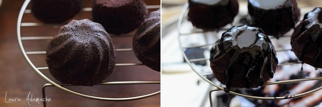 Muffins cu sos de vin rosu coacere
